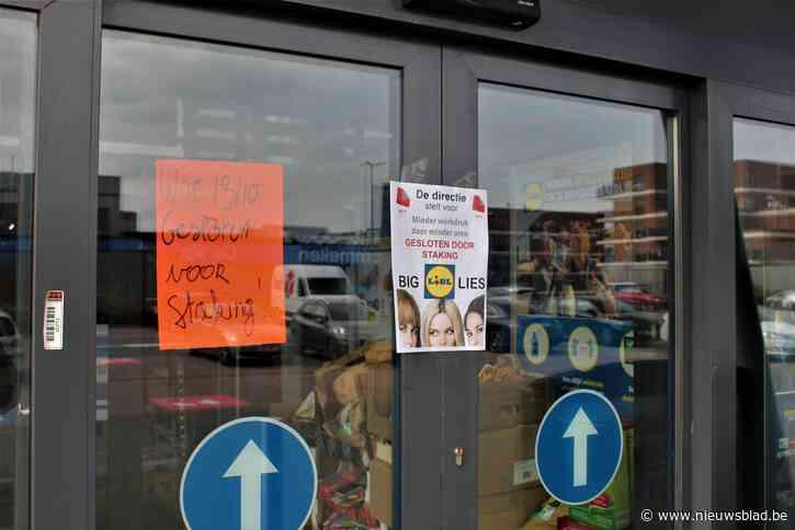 Ook Wase Lidl-filialen blijven dicht door staking