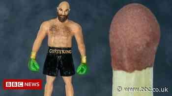 Tiny Tyson Fury sculpture goes on display in Birmingham