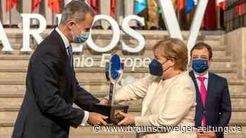 Merkel in Spanien mit Europapreis ausgezeichnet