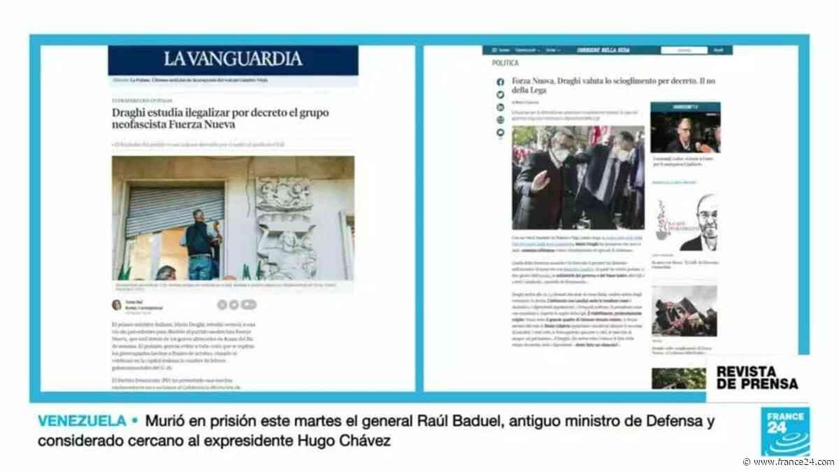 """Revista de prensa - Italia """"estudia ilegalizar el grupo neofascista Fuerza Nueva"""", cubre la prensa europea - FRANCE 24"""
