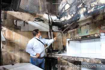 Restauran zonas del mercado Zaragoza de Jiquilpan tras incendio - Quadratín Michoacán