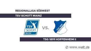 TSV Schott Mainz - TSG 1899 Hoffenheim II: Mainz begrüßt Hoffenheim - Regionalliga Südwest - DIE WELT
