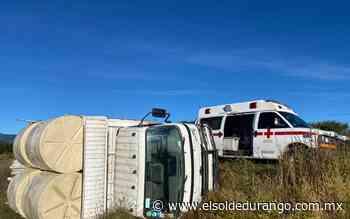 Vuelca camión de carga en Canatlán - El Sol de Durango
