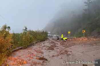 Video: Reportan cierre parcial en carretera de Durango por derrumbe - 24 HORAS