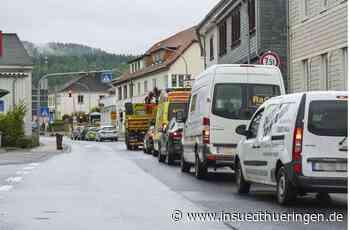 Baustelle in Gräfenroda - Lange Wartezeiten an den Ampeln in Gräfenroda - inSüdthüringen
