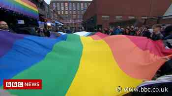 Hundreds gather in Birmingham to protest over homophobic attacks