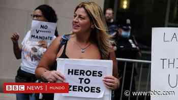 Coronavirus: los miles de trabajadores de la salud de Nueva York dispuestos a perder su empleo para no vacunarse - BBC News Mundo