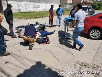 Motociclista resulta lesionado en accidente vial en Tala, Jalisco. - Tala Jalisco Noticias