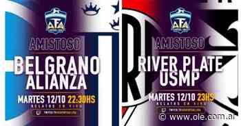 AFA Virtual Liga: ganaron River y Belgrano en los amistosos internacionales - Olé