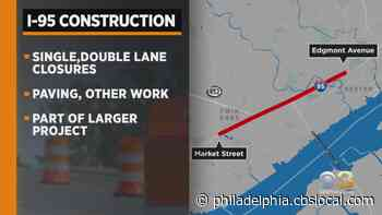 I-95 Rehab Project To Shut Down Some Lanes In Delaware County - CBS Philly