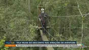 Moradores de Ponta Grossa têm desconto nas atividades de aventura do Parque Vila Velha - G1