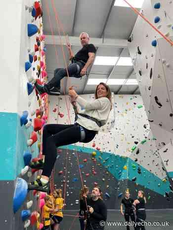 Southampton MP gives climbing a try at new climbing facility