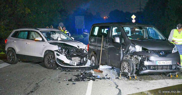Mannheim:  Zwei Schwerverletzte bei Unfall aufL597