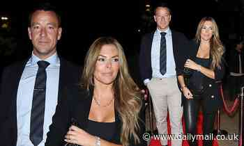 John Terry looks dapper with his stunning wife Toni as they join a slew of stars at Maddox Gallery - Daily Mail