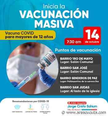 Inició jornada de vacunación masiva en Villa del Rosario - areacucuta.com