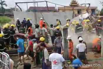 One Dead, Myanmar Firefighters Rescue 3, After Construction Site Accident   World News   US News - U.S. News & World Report