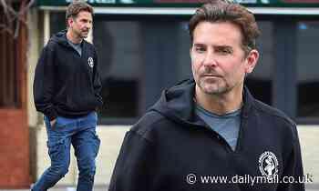 Bradley Cooper shows hometown pride wearing Philadelphia hoodie during NYC stroll - Daily Mail