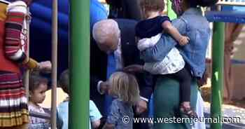Watch: After Stroking Little Boy's Hair and Face, Biden Says He Likes Kids Better Than People