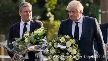 Nach tödlichem Messerangriff auf Tory-Politiker: Johnson und Starmer besuchen Tatort