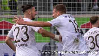St. Pauli bleibt trotz Pausen-Rückstands Erster