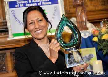 Inspirational Bana Gora, head of Muslim Women's Council, honoured with special award