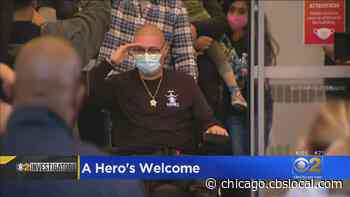 A Hero's Welcome: Officer Carlos Yanez Released From Rehab Hospital 2 Months After Shooting - CBS Chicago