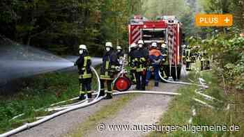 Waldbrand: Übung wird zum Stresstest für Augsburger Einsatzkräfte