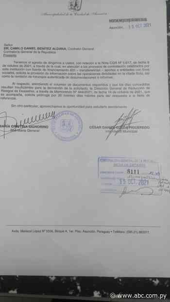Municipalidad de Asunción responde solo en parte al pedido de la Contraloría y pide prórroga - ABC Color