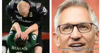 Match of the Day presenter Gary Lineker reacts to Glentoran goalkeeper's shocking red card - Belfast Live