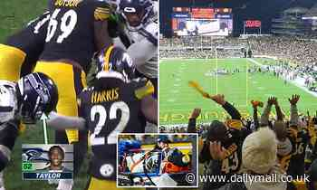Steelers fans do the wave as Darrell Taylor lays on field with serious neck injury
