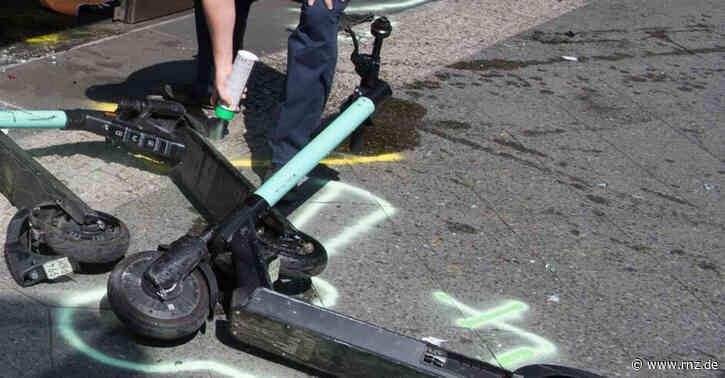 Heidelberg:  Autofahrer übersieht auf die Straße gelegten E-Scooter