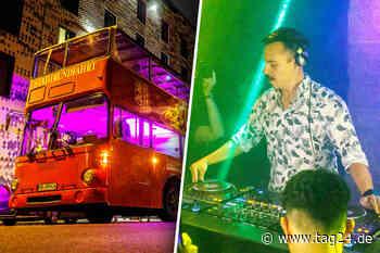 Star-DJ Purple Disco Machine feiert neues Album im roten Doppeldecker - TAG24