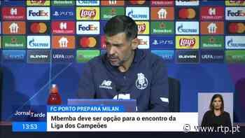 Mbemba já está a treinar com o plantel do Porto - RTP