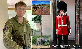 British soldier, 22, died after he was tossed 20ft into the air on tusks of elephant