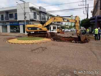 Inicia trabalho de restauração na Avenida Anita Garibaldi em Maravilha - WH3