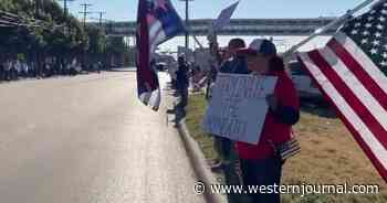 Videos: Hundreds of Southwest Workers Line Streets Outside Airline's HQ to Protest COVID Vax Mandate