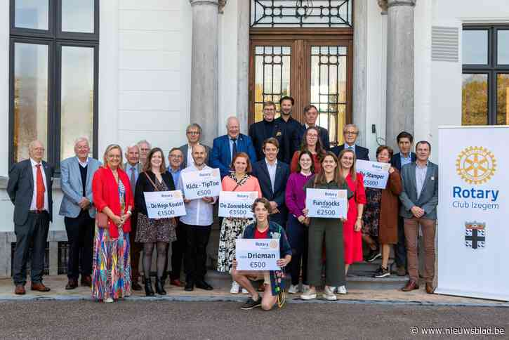 Rotaryclub reikt cheques uit aan zes sociale doelen