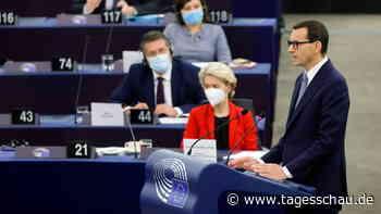 """Streit um Rechtsstaatlichkeit: Morawiecki wirft EU """"Erpressung"""" vor"""