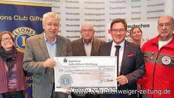 Lions Club Gifhorn spendet 1500 Euro an Jugendrotkreuz