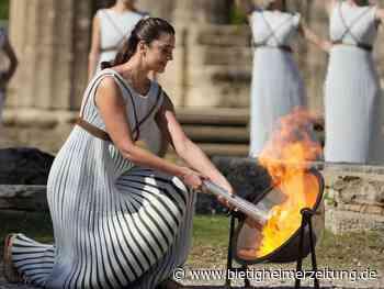 Olympia: Das Feuer für die Winterspiele brennt - Protestaktion - Bietigheimer Zeitung