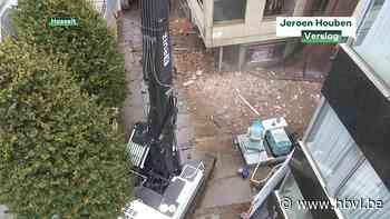 Afbraak in het centrum van Hasselt begonnen