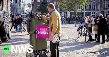 """Mag ik je peuken?"": robot Fons vraagt rokers in Gent om hun sigarettenpeuken in strijd tegen zwerfvuil - VRT NWS"