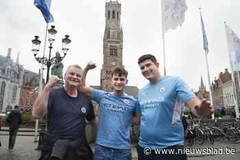 Manchester City-fans houden het gezapig in Brugse binnenstad
