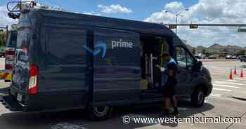 Amazon Delivery Driver a Hero After Blocking Traffic with Van and Rescuing Man in Overturned Vehicle
