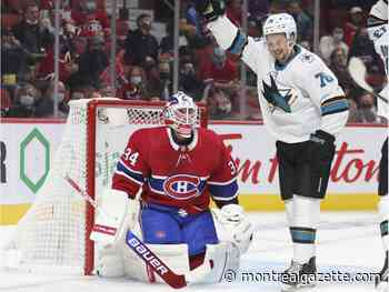 Nothing goes right for Canadiens in humbling 5-0 loss to Sharks
