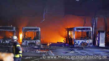 Brandursache in Stuttgarter Bus-Depot noch immer nicht gänzlich geklärt