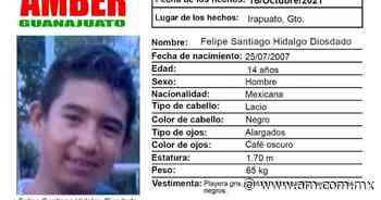 Alerta AMBER Irapuato: Buscan a Felipe Santiago Hidalgo Diosdado, de 14 años - Periódico AM
