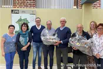 Attentie voor pensioen van gemeentearbeiders Michel en Johan