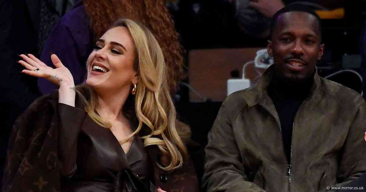 Loved up Adele cuddles up to boyfriend Rich Paul at star-studded Lakers game - The Mirror