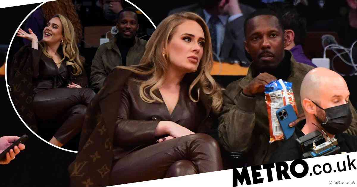 Adele is picture of joy with Rich Paul at star-studded Lakers game - Metro.co.uk